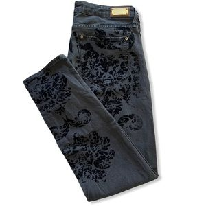 Zara Woman Premium Jeans Baroque Velvet Print